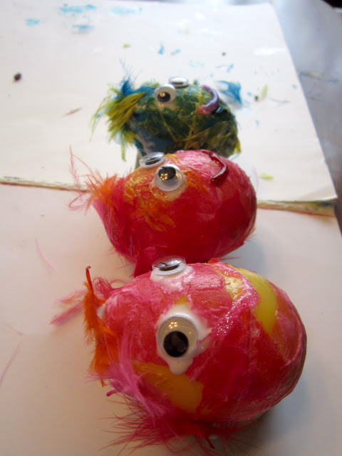 Plastic Egg Art Project