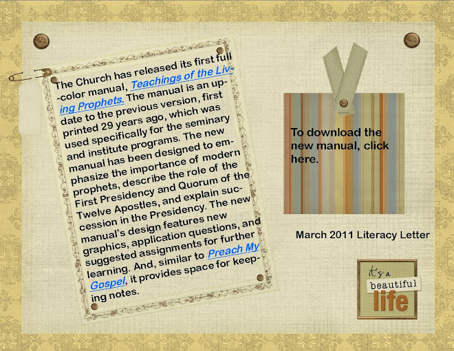 March 2011 Literacy Letter