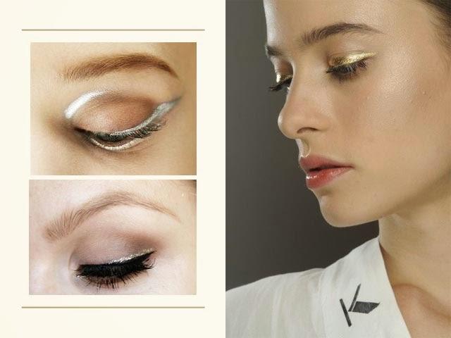 Tendance eye liner or argent