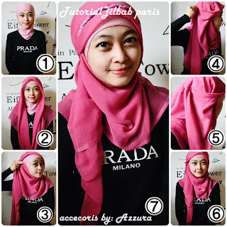 Tutorial Jilbab Paris Segiempat Mild Square Hijab Style Tutorial Hijab Tube Moschaict Tutorial