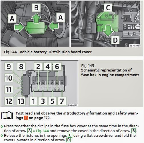 Where is the fuse box on a skoda fabia wiring diagram