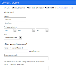 registrarse en outlook.com