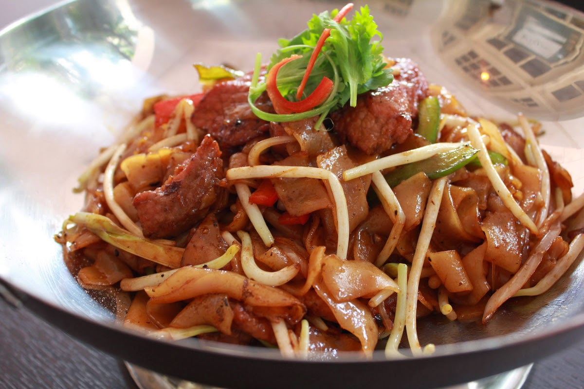 Black Pepper Beef  Char Kway Teow