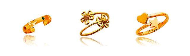 Gold Toe Rings