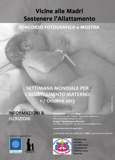 """CCORSO FOTOGRAFICO e MOSTRA """"VICINE ALLE MADRI, Sostenere l'Allattamento"""""""