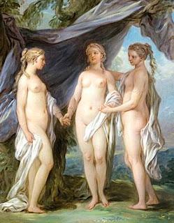En la mitología griega, las Cárites o Gracias, eran las diosas del encanto, la belleza, la naturaleza, la creatividad humana y la fertilidad. Habitualmente se consideran tres, de la menor a la mayor: Aglaya, Eufrósine y Talia. Las Cárites solían ser consideradas hijas de Zeus y Eurínome, aunque también se decía que eran hijas de Hera, de Dioniso, o de Helios y la náyade Egle. Homero escribió que formaban parte del séquito de Afrodita. Las Cárites estaban asociadas asimismo con el inframundo y los misterios eleusinos.