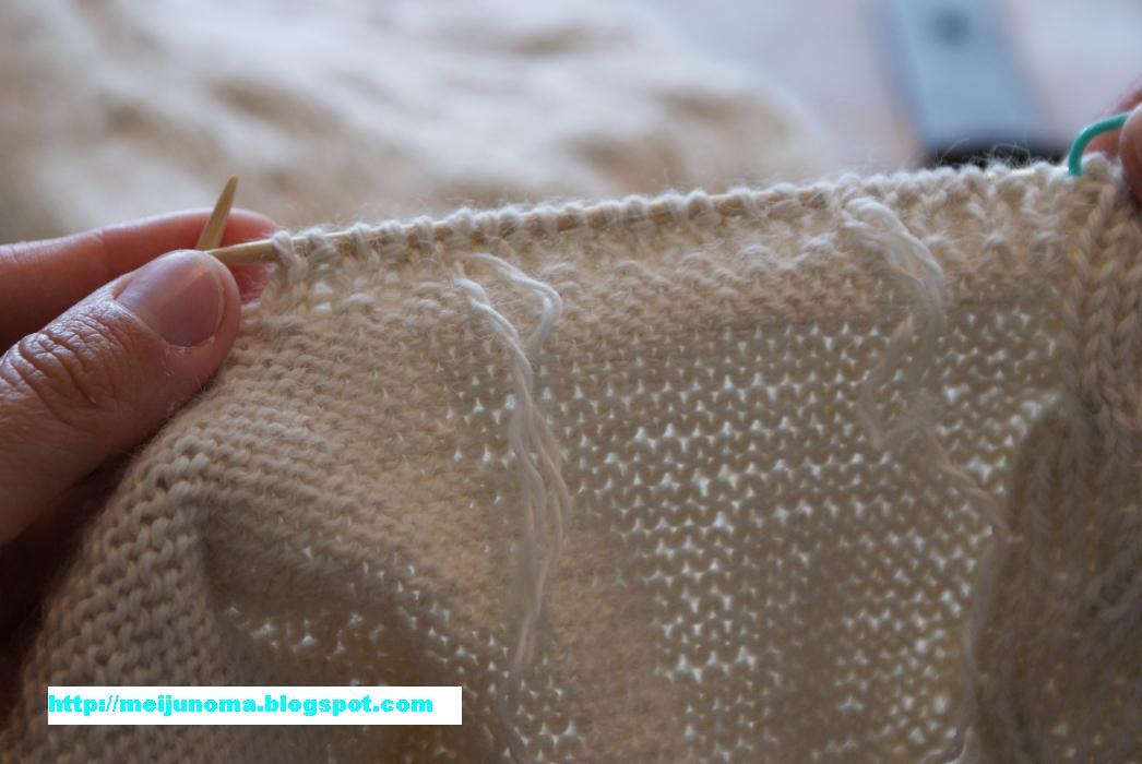 Knitting Joining Yarn New Ball : Meiju knits joining a new ball of yarn