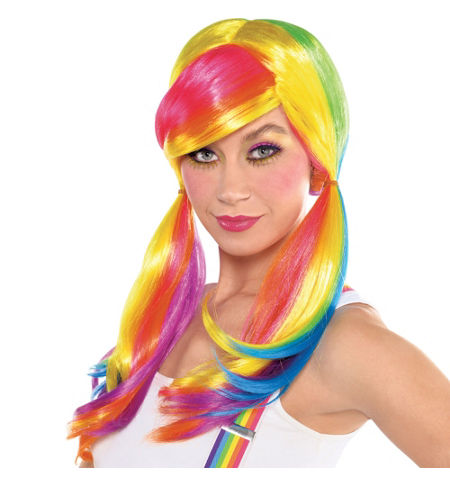 MLP Rainbow Dash Adult Costume Wig