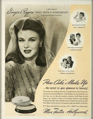 Max Factor Ginger Rogers advert 1942
