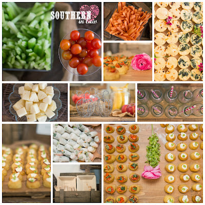 Gluten Free Wedding Reception Menu Sydney - Fruit and Vegetable Bar, Mini Frittatas, Mini Potatoes, Rice Paper Rolls