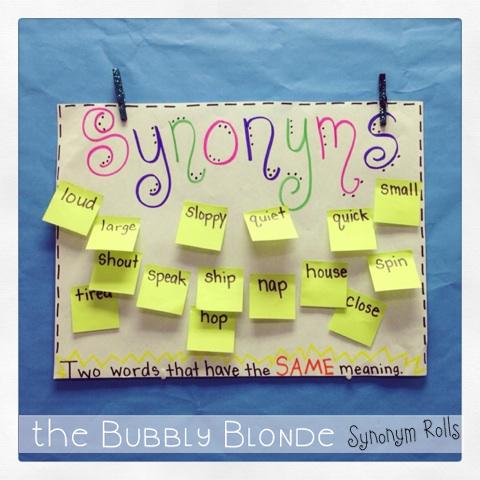 Synonym Rolls The Bubbly Blonde Teacher