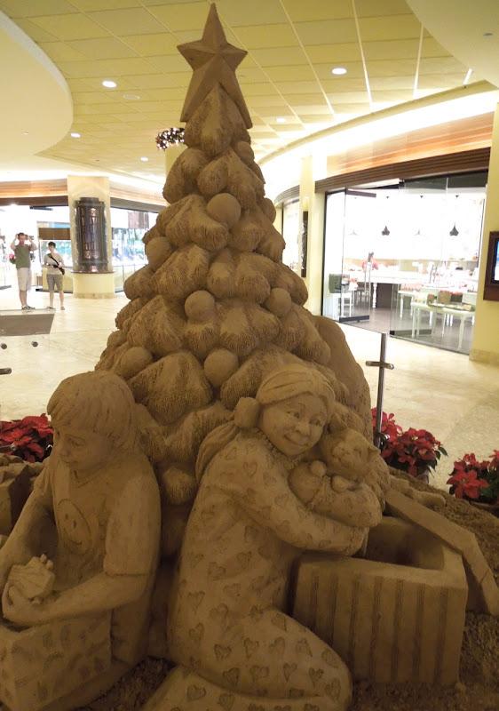 Festive sand sculpture Sheraton Waikiki Hotel Honolulu