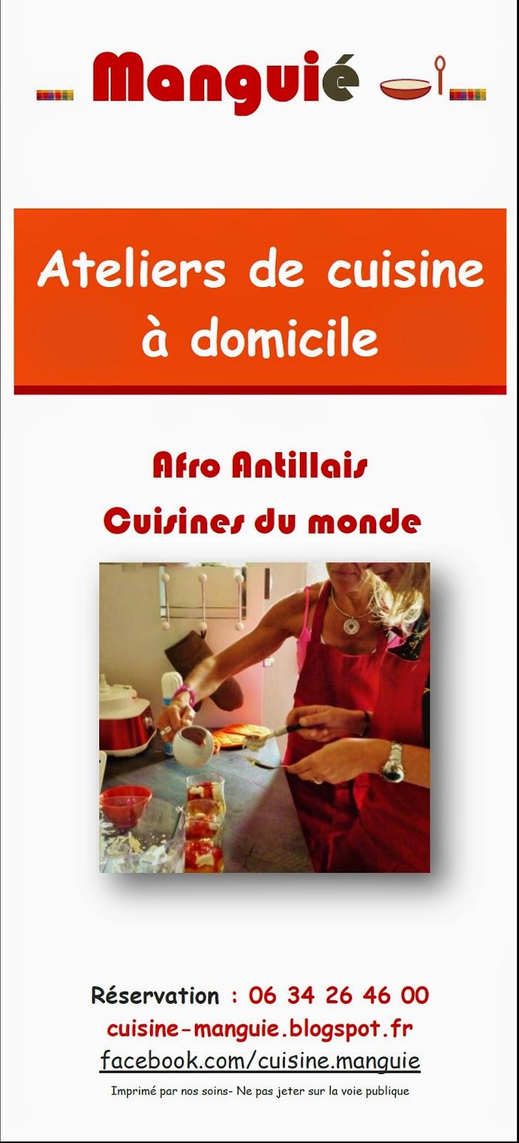 Cours de cuisine exotique ateliers afro antillais cuisine for Ateliers cuisine