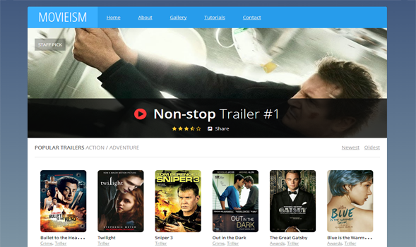 Movieism Responsive Blogger Template | Templateism