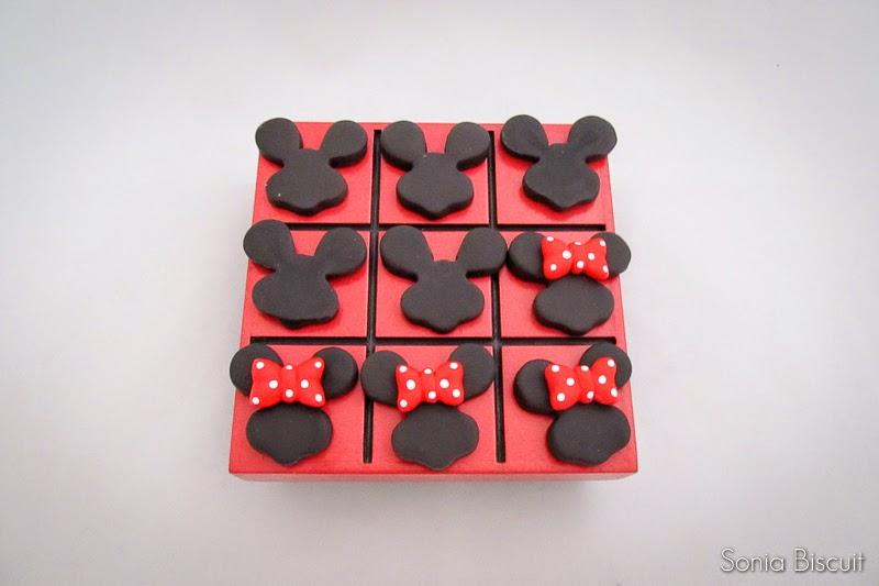 Mickey Minnie Lembrancinha Jogo da Velha Biscuit