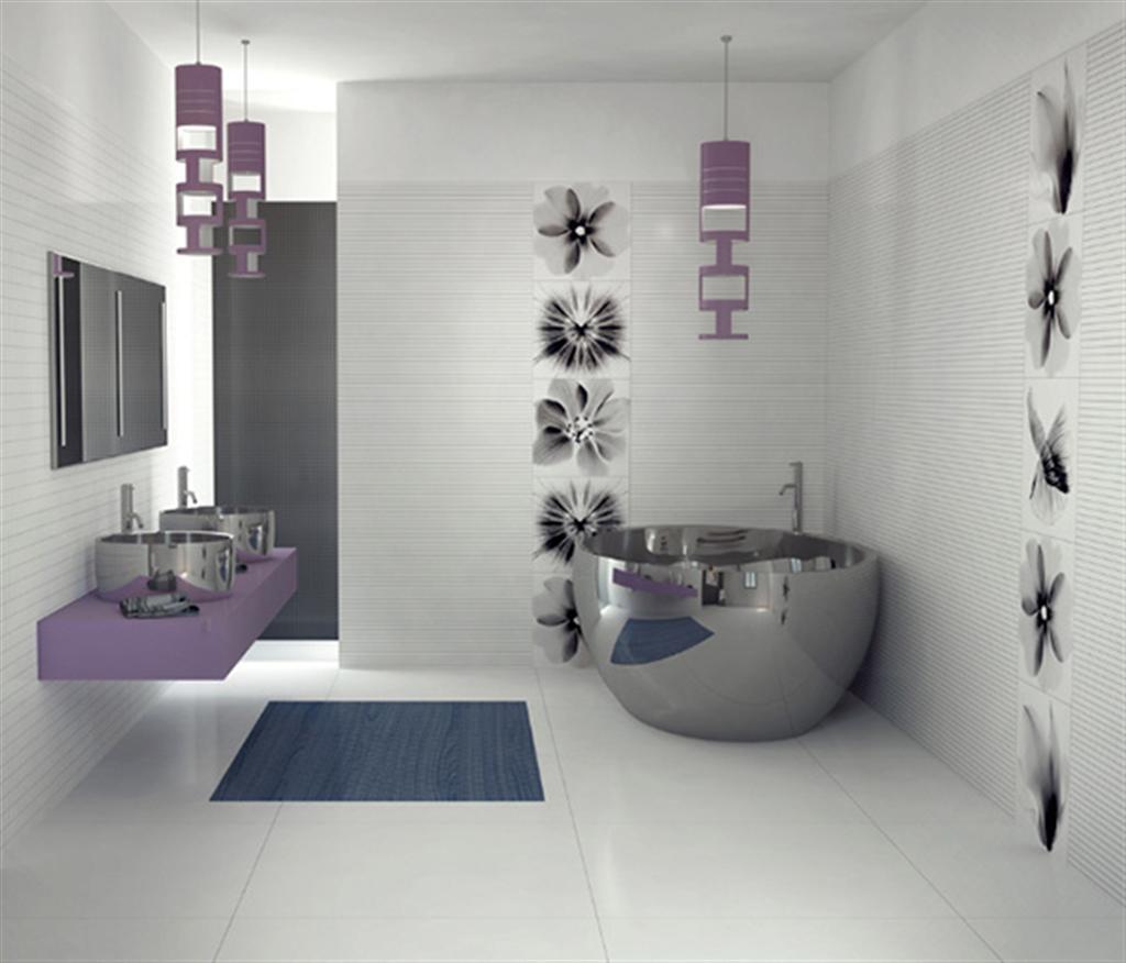 modern bathroom design 1 Projeto do banheiro moderno #444D5D 1024 876