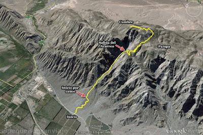 Trekking San Juan, Cerro Parkinson, ascenso, sierra chica de zonda