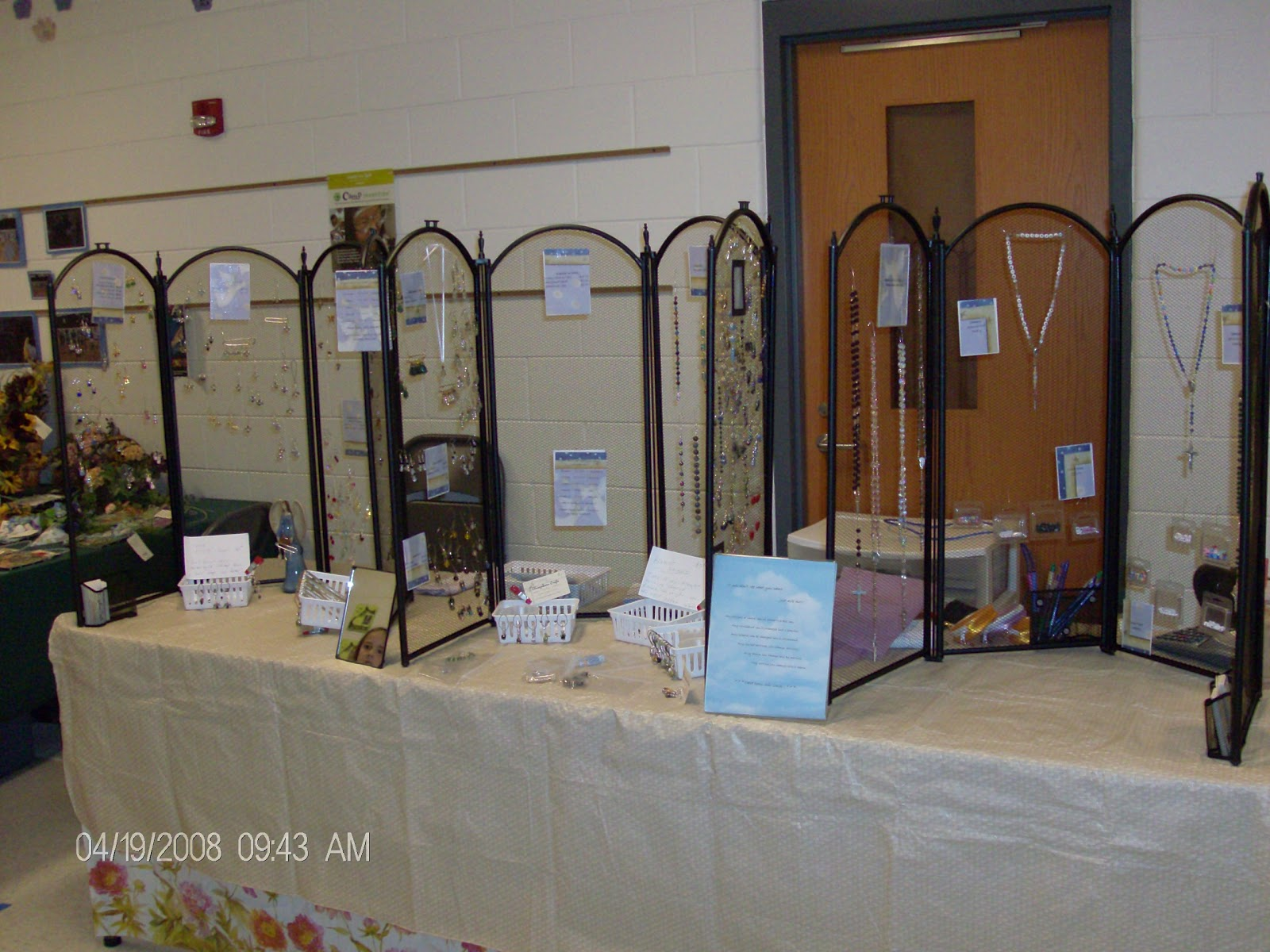 Booth zombie pic jewelry booth display for How to make a ring display for craft shows