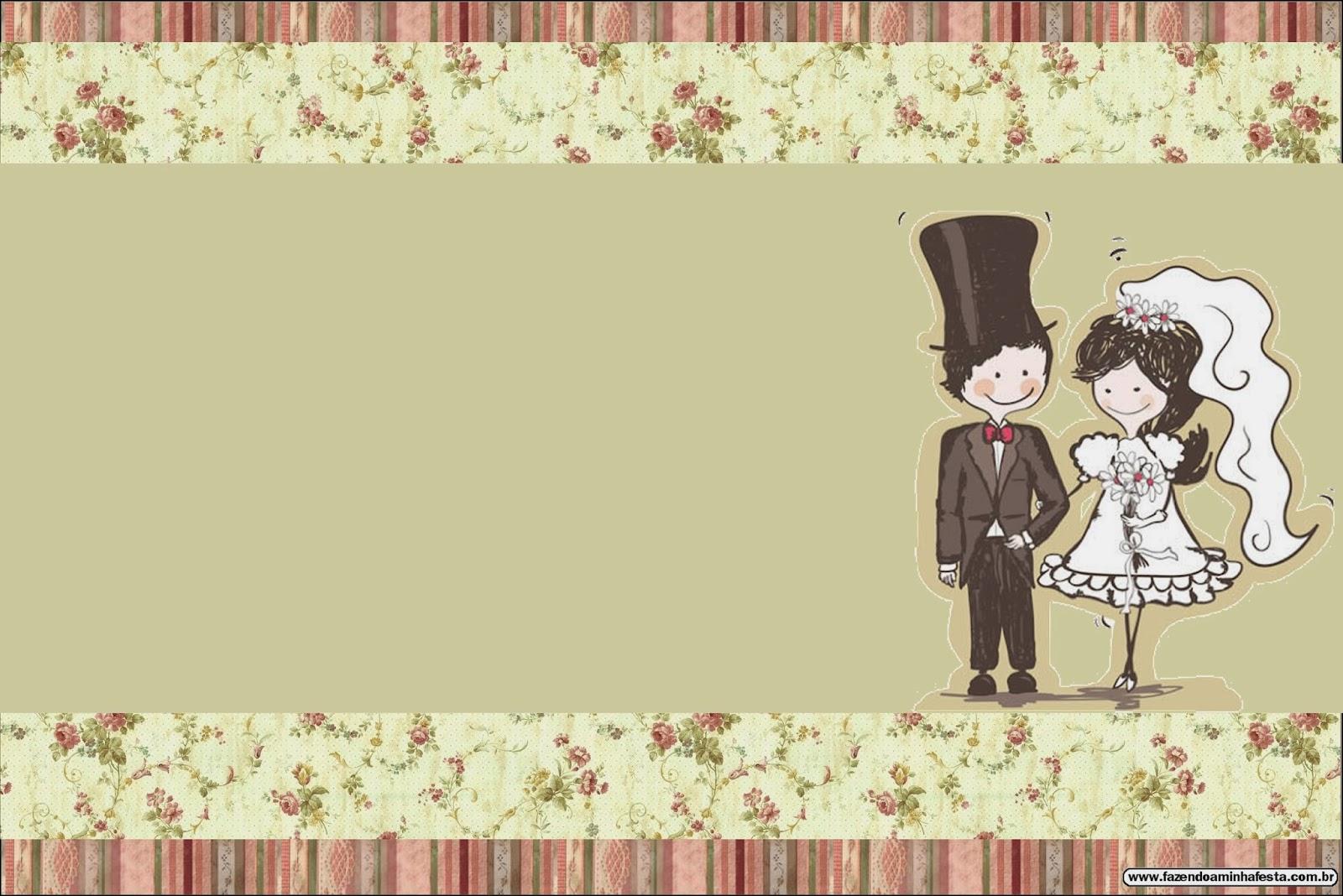 Bodas: Pareja con fondo provenzal. Tarjetas o Invitaciones para ...