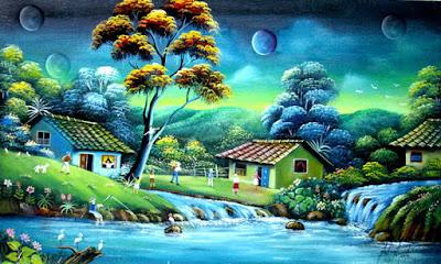 Pinturas De Paisajes Naif