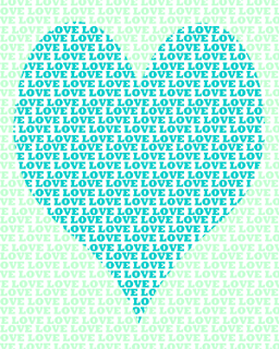 blue and green love heart printable