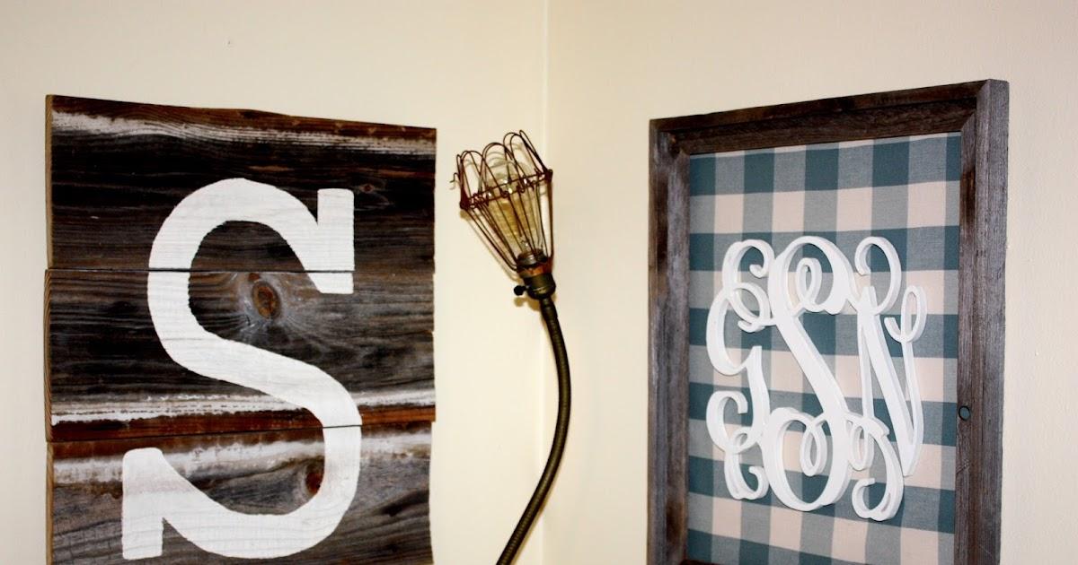 Monogram Wall Decor Diy : Southern diy diary monogram wall decor how to
