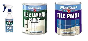 White knight ceramic tile paint