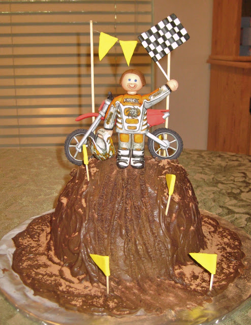 Motocross Dirt Bike Racing Cake 2