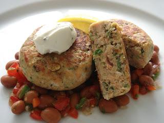 healthy and moist salmon patties