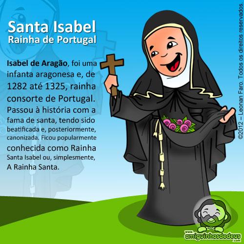 Santa Isabel Rainha de Portugal desenho
