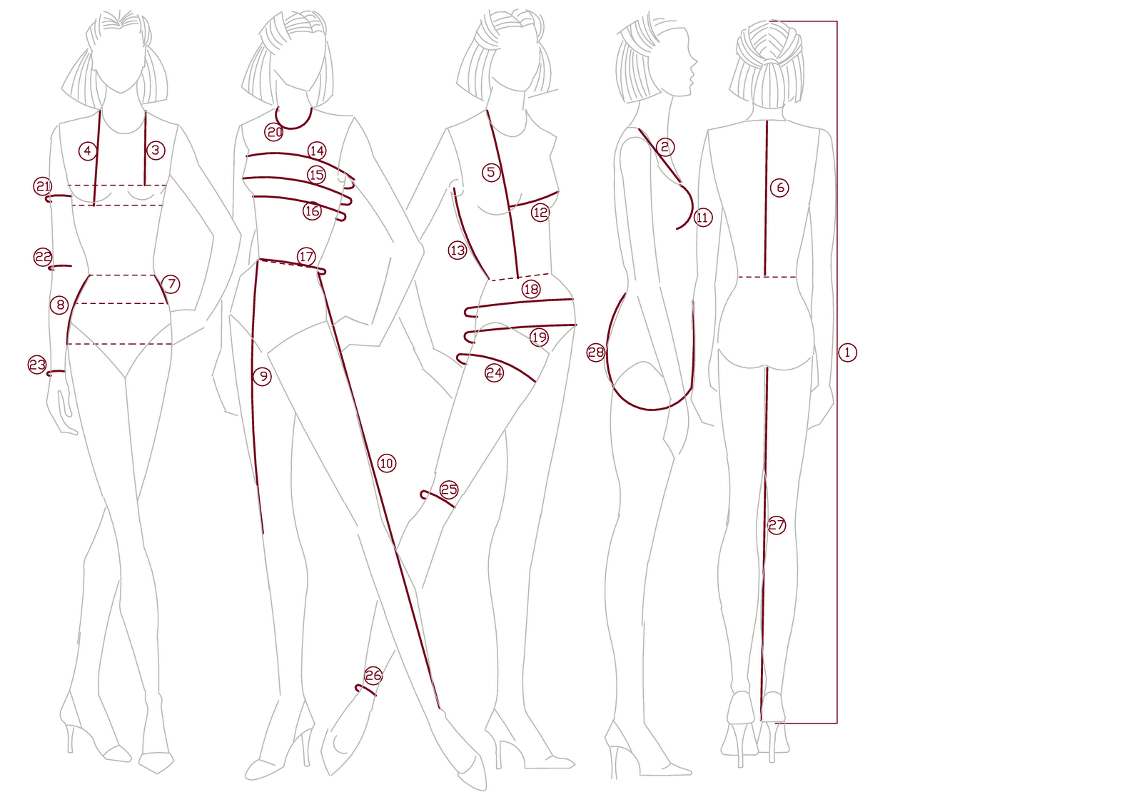 how to take measurements for a dress making