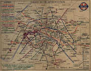 Vintage Paris Metro Map