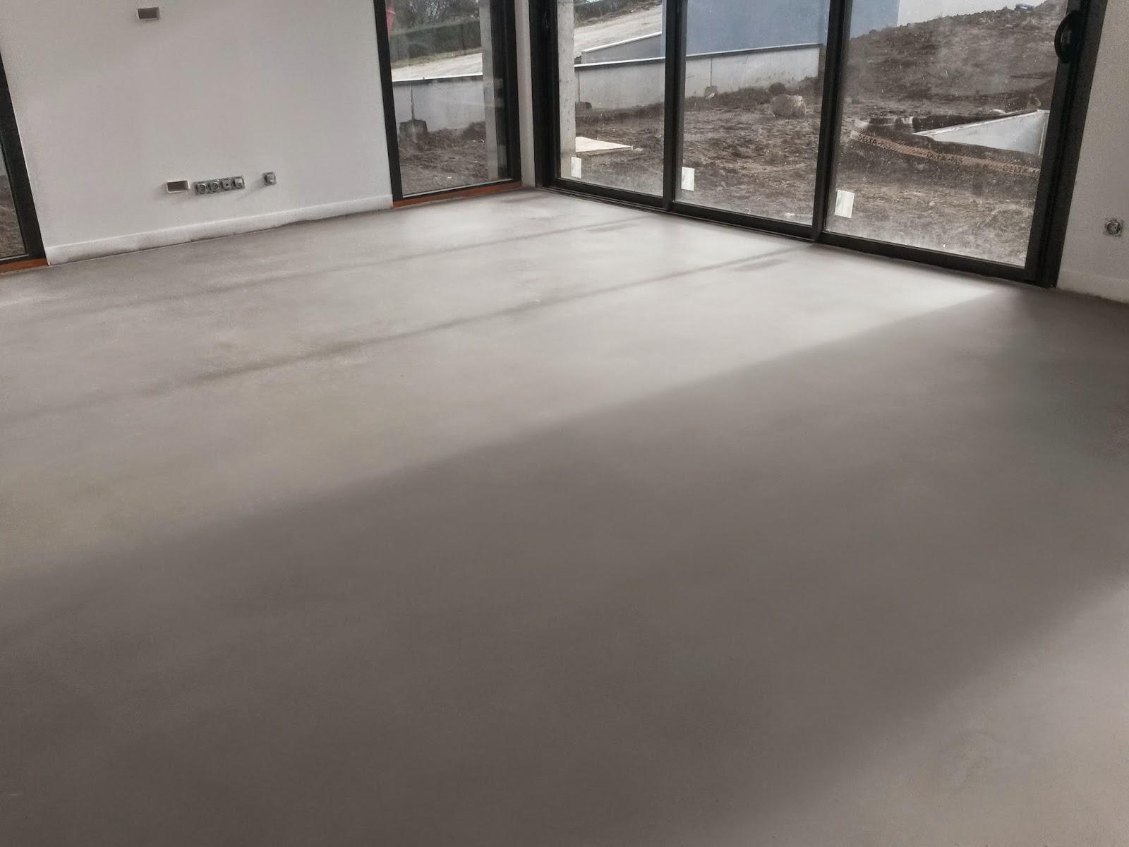Sol beton ciré