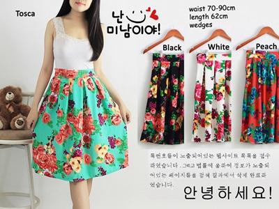 Jual Skirt Murah di Jakarta Bahan Wedges Kerena Terbaru Warna Hitam Keren