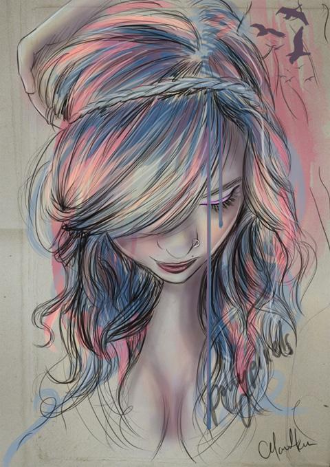 Chelsea Hantken Colored Pencil Girls Portrait Art Pics