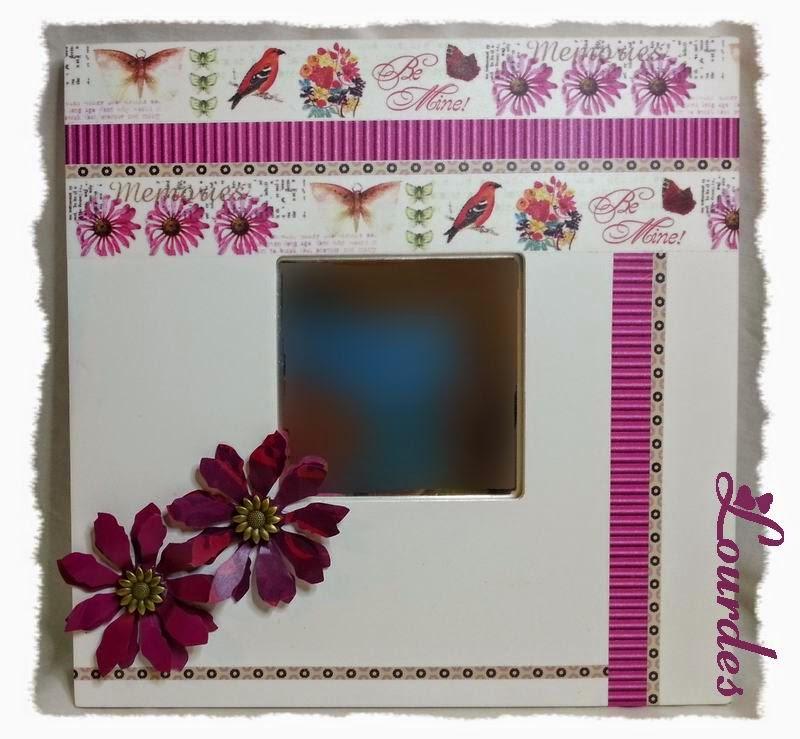 Espejo con marco decorado pintura manualidades de hogar - Pintura para espejos ...