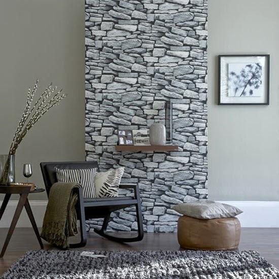 conseils déco et relooking — mur en pierre naturelle dans le salon
