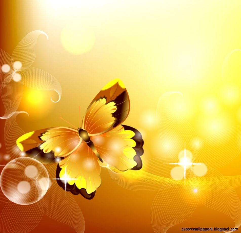 Yellow Butterfly iPad wallpaper « iPad Wallpapers