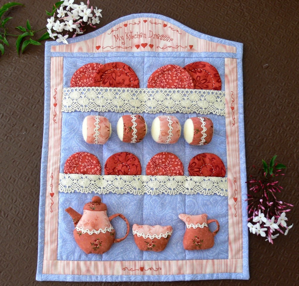 Val laird free block of the month wall quilt pattern 9 for Kitchen quilting ideas
