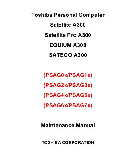 manuales de jvare  manual de servicio satellite a300