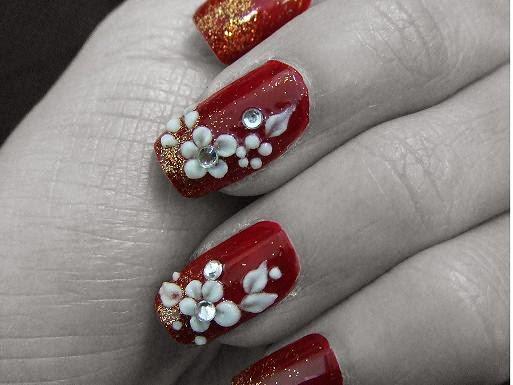 Nail art flowershttprefreshrosespot black nail art flowers prinsesfo Image collections