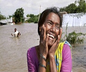 Heavy rainfall caused flooding across Andhra Pradesh, India