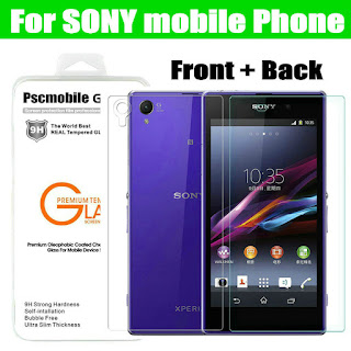 Front + Back Premium Tempered Glass Screen Protector Guard Film For Sony Xperia