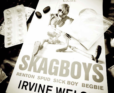 skagboys, Irvine Welsh, book cover, heroin, drugs, literature, Renton, Spud, Sick boy, published 2013, literature, modern, Scottish