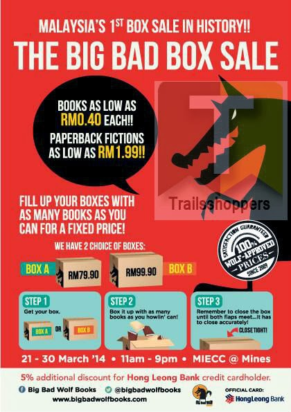 The Big Bad Box Sale Books MIECC Mines Seri Kembanga Selangor