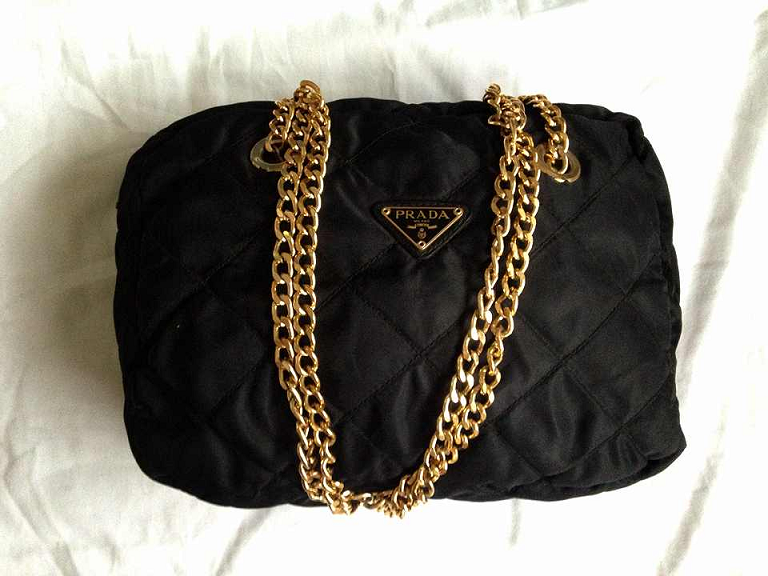 Prada Gold Chain Shoulder Bag 11