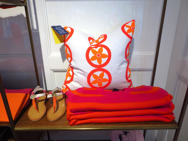COCOCOZY Tommy Hilfiger Vent Pillow pink orange home furnishings West Hollywood store