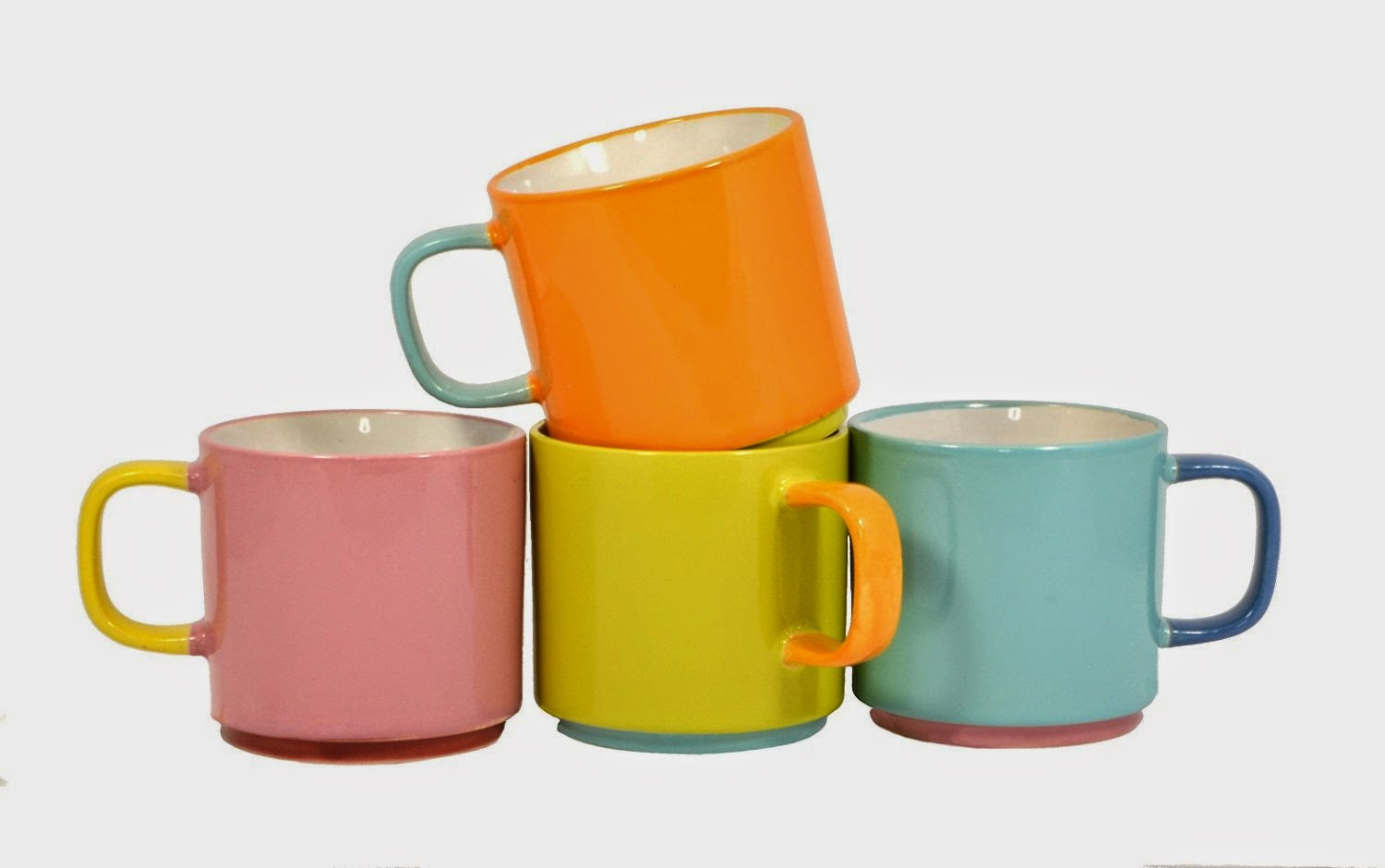 i love displaying these colorful cups on my counter top if you want these colorful stackable mugs - Colorful Mugs