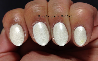 MASH White Stamping Polish White on White