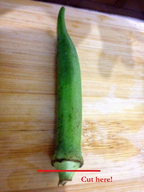 Fresh Okra - how to cut Okra